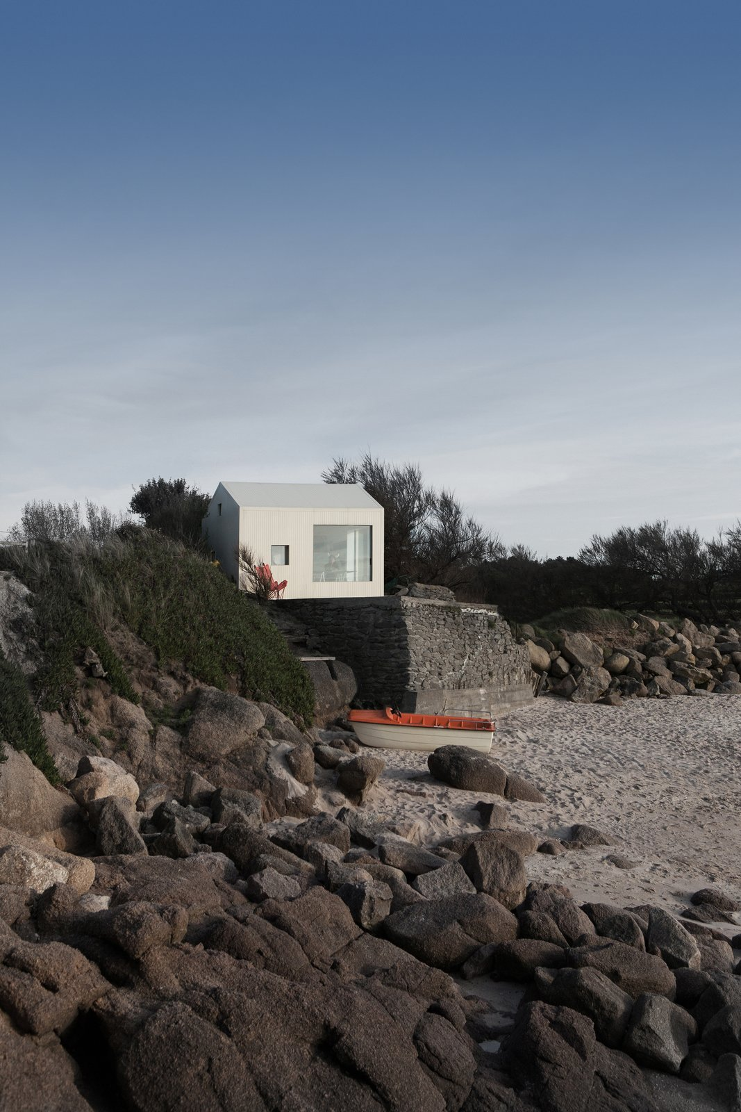 Exterior, Cabin Building Type, House Building Type, Beach House Building Type, and Gable RoofLine @aubry.guillaume  Viking Seaside Summer Cabin