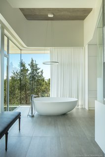 master bath detail featuring the freestanding soaking tub