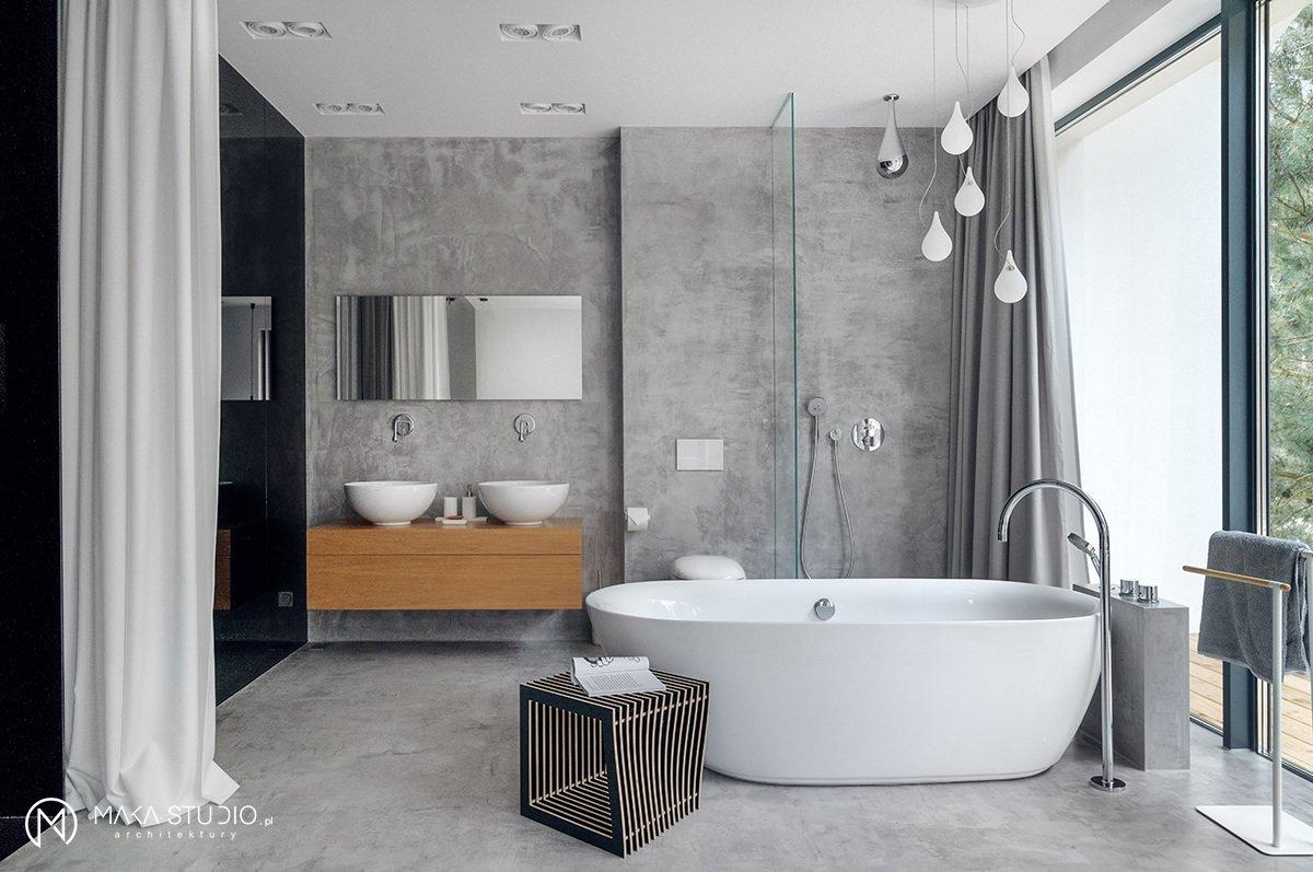 masterbedroom bathroom  Minimal Seaside Villa