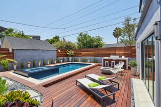 Back yard, Pool deck
