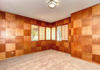 Modern home with Office, Medium Hardwood Floor, and Study Room Type. Checkerboard room of custom Mahogany paneling and Soji screens. This is being turned into an eclectic man cave. Photo 4 of Weaver Drive
