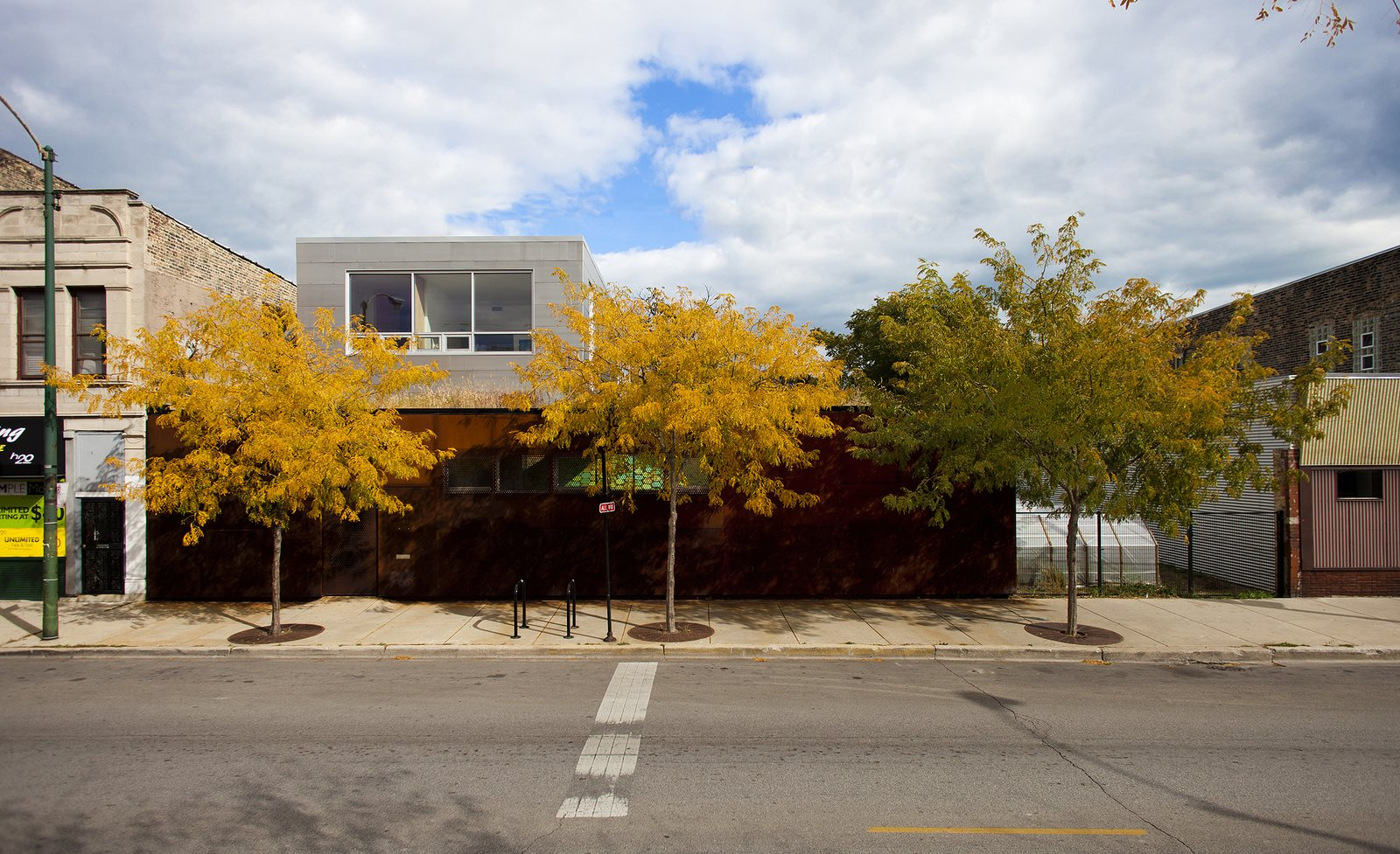 Outdoor, Trees, and Front Yard Street facade  Morgan Street Live/Work by UrbanLab