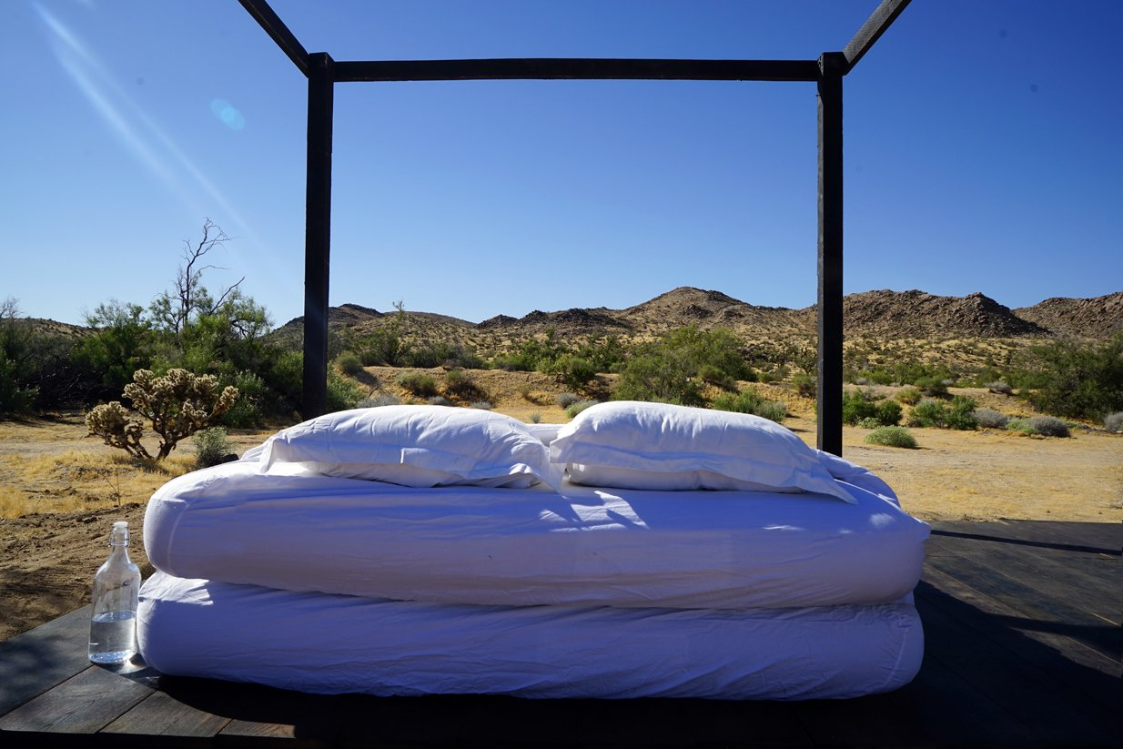 The view to the mountains  in convertible mode  Joshua Tree Case Study Cabin by Mike Vensel
