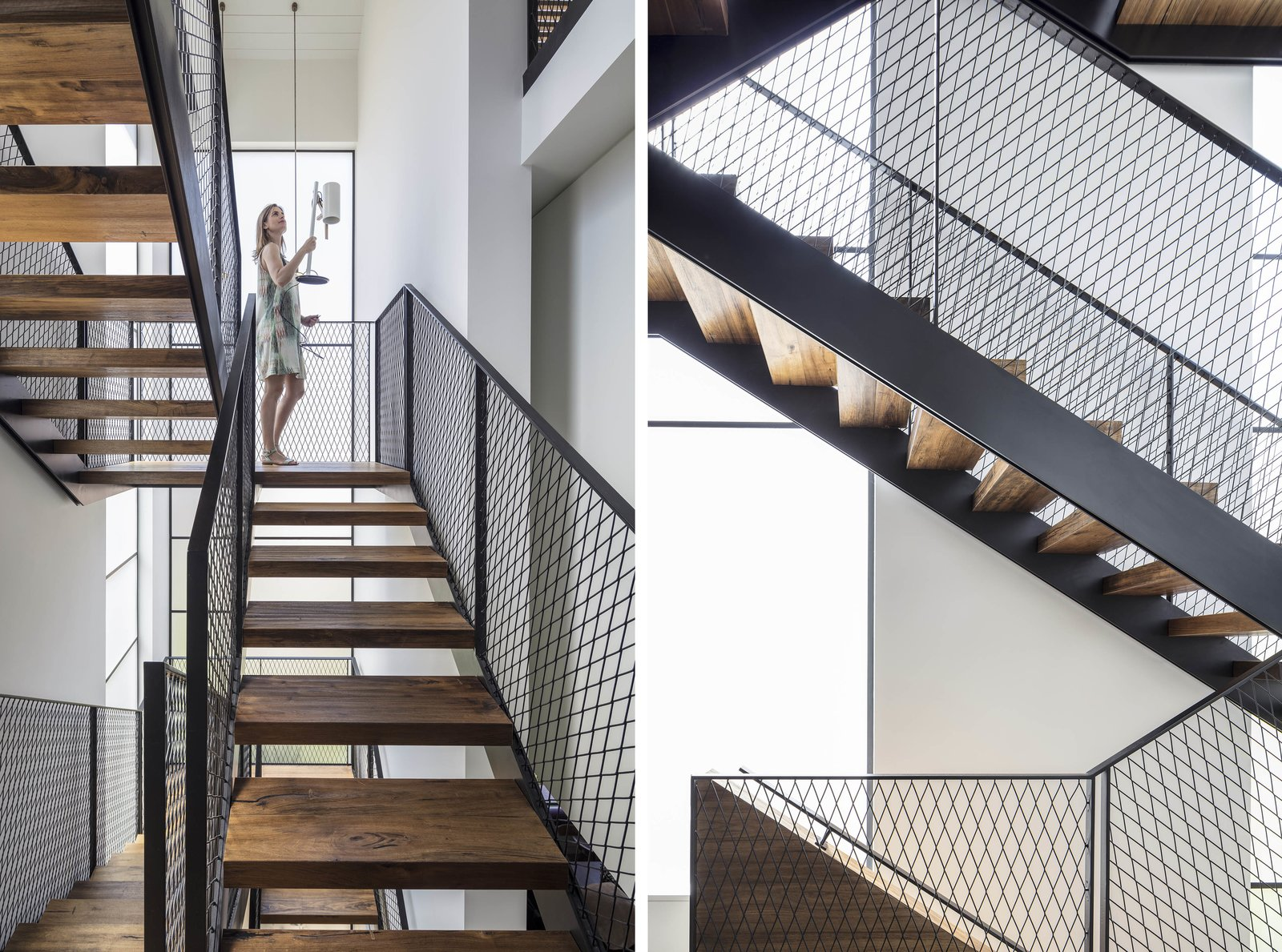 Metal, Wood, Metal, Windows, and Metal The Charm Townhouse - Privacy is ensured without blocking natural light thanks to acid extra clear glass  Best Windows Wood Metal Photos from The Charm Townhouse