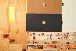 Close Up Step Storage And Moving Divider Panel With Storage And Usable  Surfaces