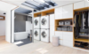 Modern home with Laundry Room, Stacked, and White Cabinet. Top Floor/Master Photo 9 of East Pender home