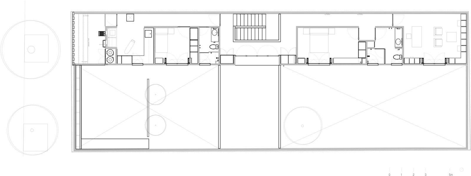 GROUND FLOOR PLAN Tagged: Bedroom and Bed.  Casa Campestre 107 by DCPP