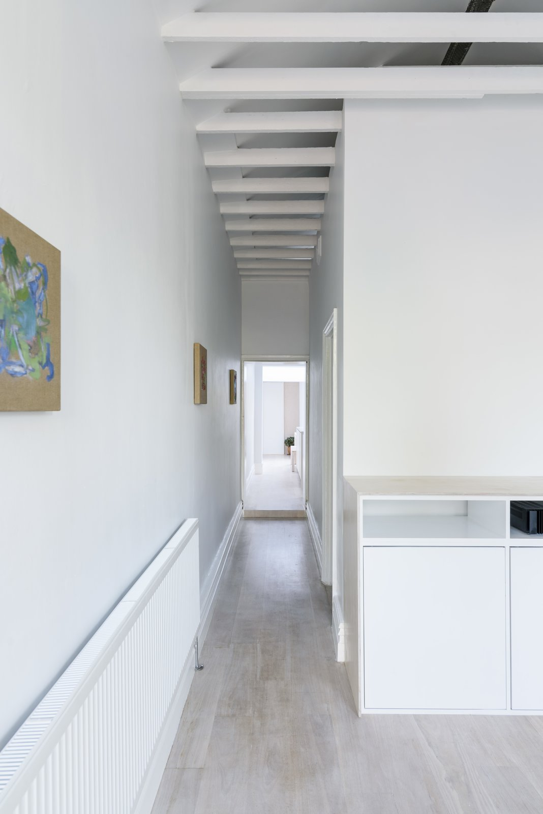 Hallway and Light Hardwood Floor Corridor (Day)  Curtain Cottage