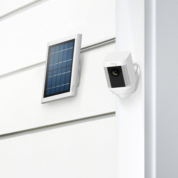 Ring's battery powered spotlight camera can be installed anywhere and has the option of a solar panel to keep it charged