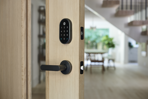 A smart door lock makes it easy for you to let pet-sitters in as well as know that they've been there.