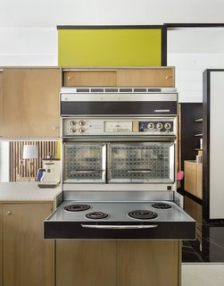 The Frigidaire Flair oven is original to the 1963-built home. The iconic cooker was introduced in 1962, when Frigidaire was a subsidiary of General Motors. It has appeared in the classic 60s TV series Bewitched as well as modern throwback Mad Men.