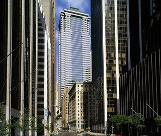 The J. P. Morgan Bank Headquarters on Wall Street in Manhattan.
