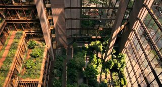 The Ford Foundation building was completed in 1967, one of the first by Roche's new firm—Kevin Roche John Dinkeloo and Associates. The design incorporates an atrium garden by landscape architect Dan Kiley.