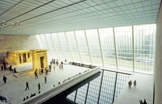 """Roche created a """"display case"""" for the Met's treasured Temple of Dendur, an Egyptian temple built in 15 B.C. during the reign of Caesar Augustus."""