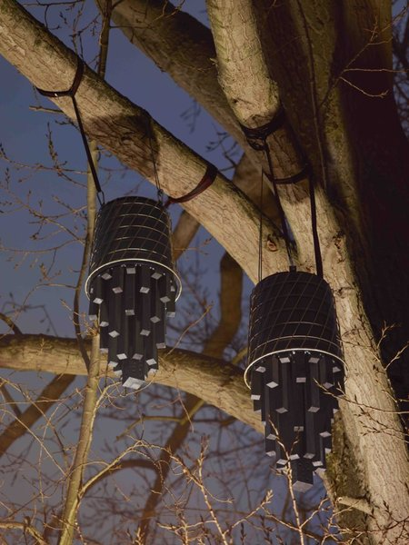 Fladdermösshus is designed by architect Je Ahn, founder of Studio Weave. The bat roosts are constructed from old IKEA KVISTBRO metal tables.