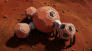 Mars Incubator's third-place-winning model would fit right in on the set of Matt Damon's The Martian—and it even features a greenhouse.