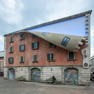 British Artist Alex Chinneck Unzips a Building in Milan