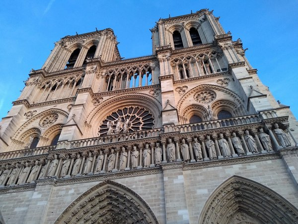 The cathedral's towers before the fire.  Photo 4 of 4 in €845M Pledged to Rebuild Notre Dame Cathedral After Devastating Fire