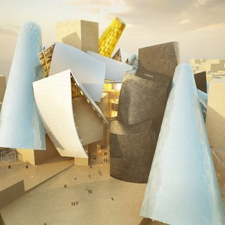 Digital renderings of the design showcase unique, sculptural towers and horizontal and vertical galleries.