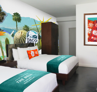 The Palm Springs location is a good fit for Taco Bell, a Southern California-based brand founded by Glen Bell in 1962.