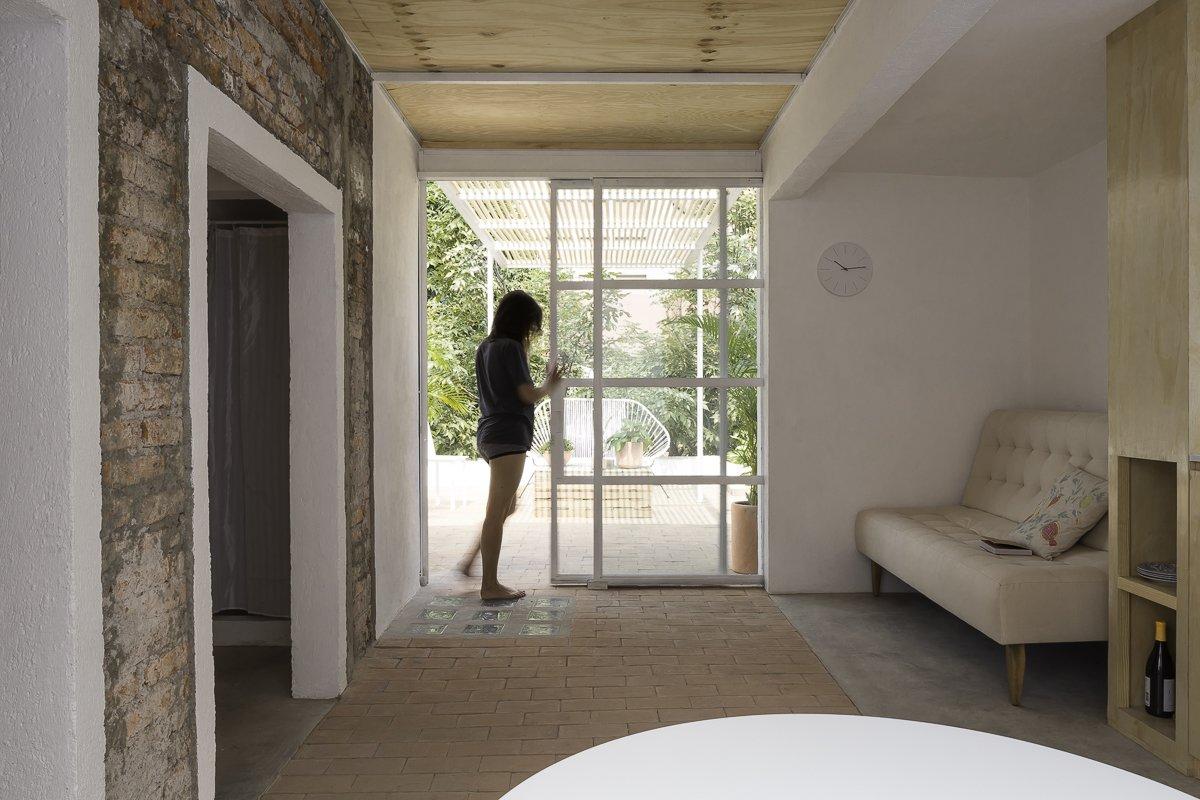 Pocket doors open space to the terrace  Narvarte Terrace