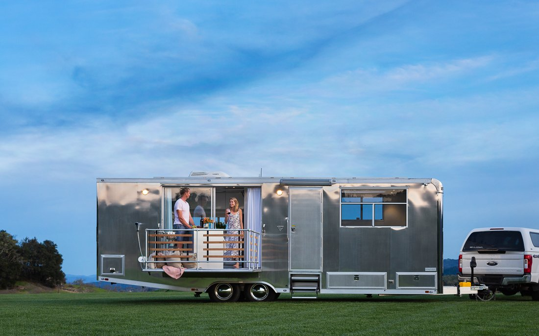 A Well Traveled Launch Line Of Sleek Homes On Wheels