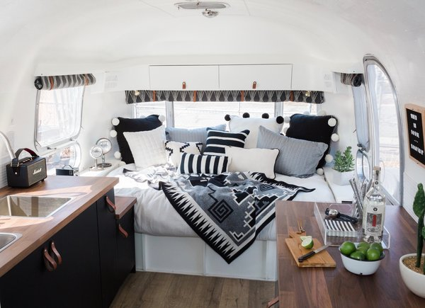 Budget Breakdown: One Couple Give a 1969 Airstream Globetrotter a Dreamy Makeover For $19K