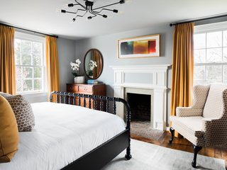 On the second floor of the inn, the six bedrooms were refreshed with new paint, light fixtures, and furnishings.