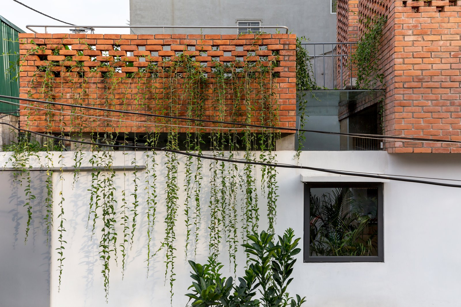 VH House exterior perforated brick