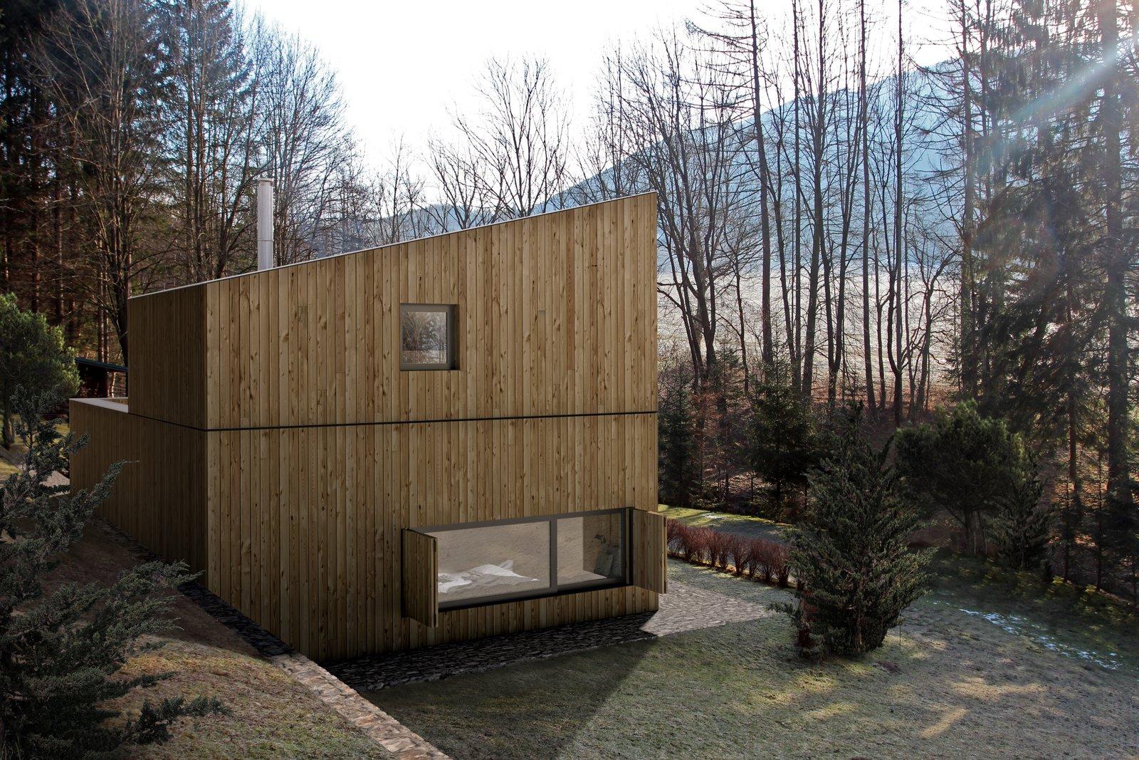 Mountain hut exterior