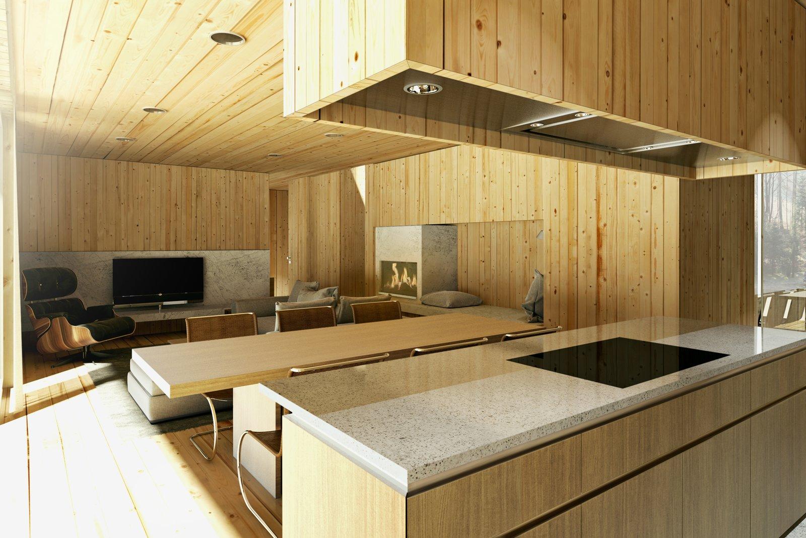 Mountain hut kitchen