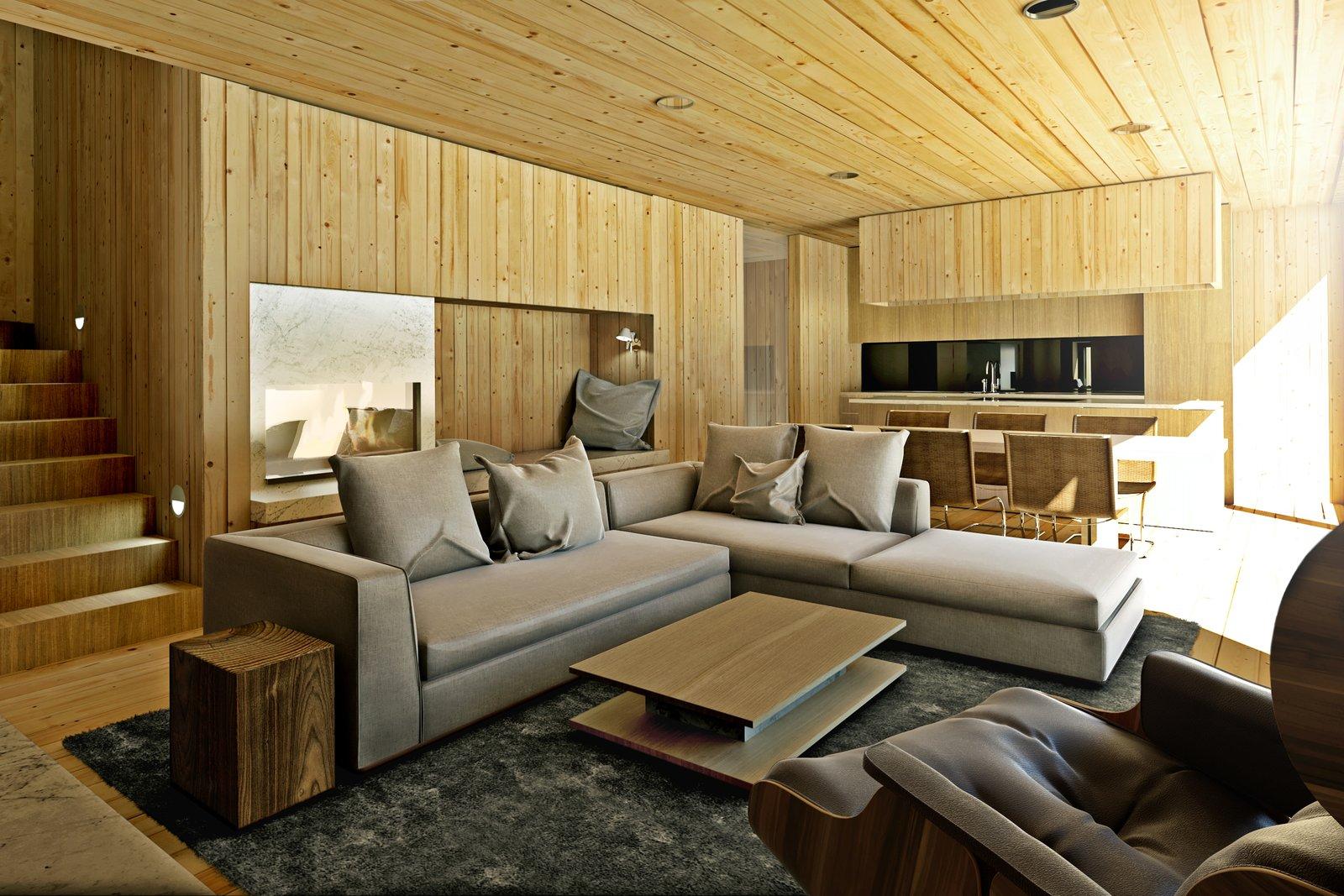 Mountain hut living room