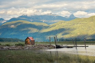 The Site Shack in a pristine natural setting in British Columbia.