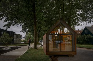 Powers Construction originally developed the compact and contemporary Site Shack as a mobile workspace for their residential job sites.