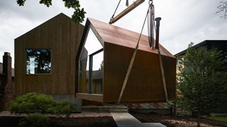 Powers Construction uses the Site Shack as a space to meet with homeowners and discuss the project.