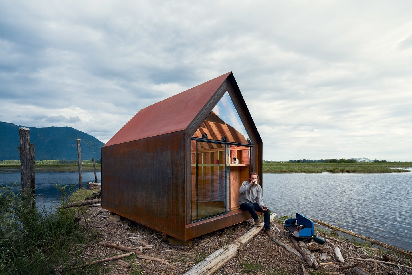 Site Shack prefab cabin in natural setting