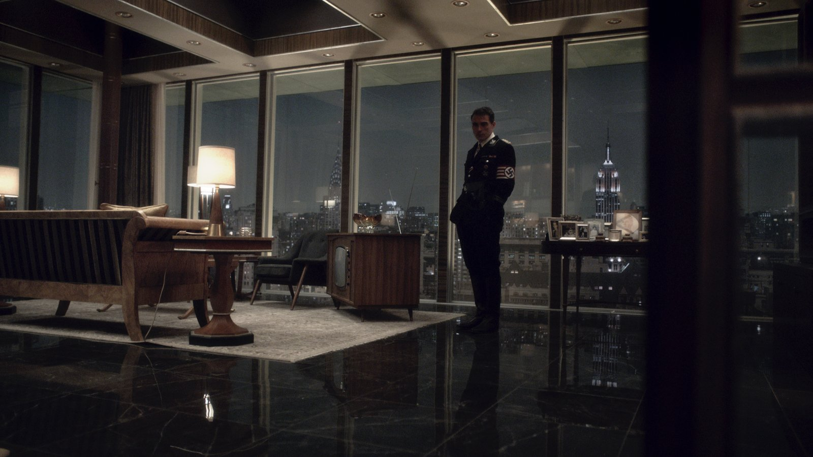For the exterior of the Smith's apartment building, Amazon filmed Vancouver's The Guinness Tower, which was completed in 1969 and designed by Charles Pain.  Photo 2 of 9 in Behind the Scenes: A Dystopian, Midcentury Penthouse in 'The Man in the High Castle'