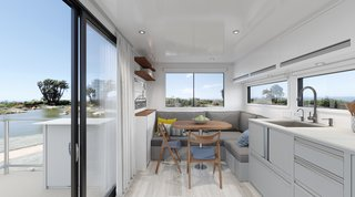 The Santa Barbara, California–based luxury mobile home company Living Vehicle just launched its 2020 model with more off-grid capabilities in mind. Designed for full-time living—as opposed to vacations or long weekends—this 28-foot trailer is shaking up the recreational vehicle industry.