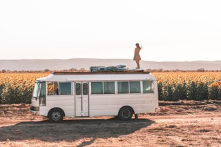 This Family of Four Travels Australia in a Boho-Chic  1984 Nissan Civilian