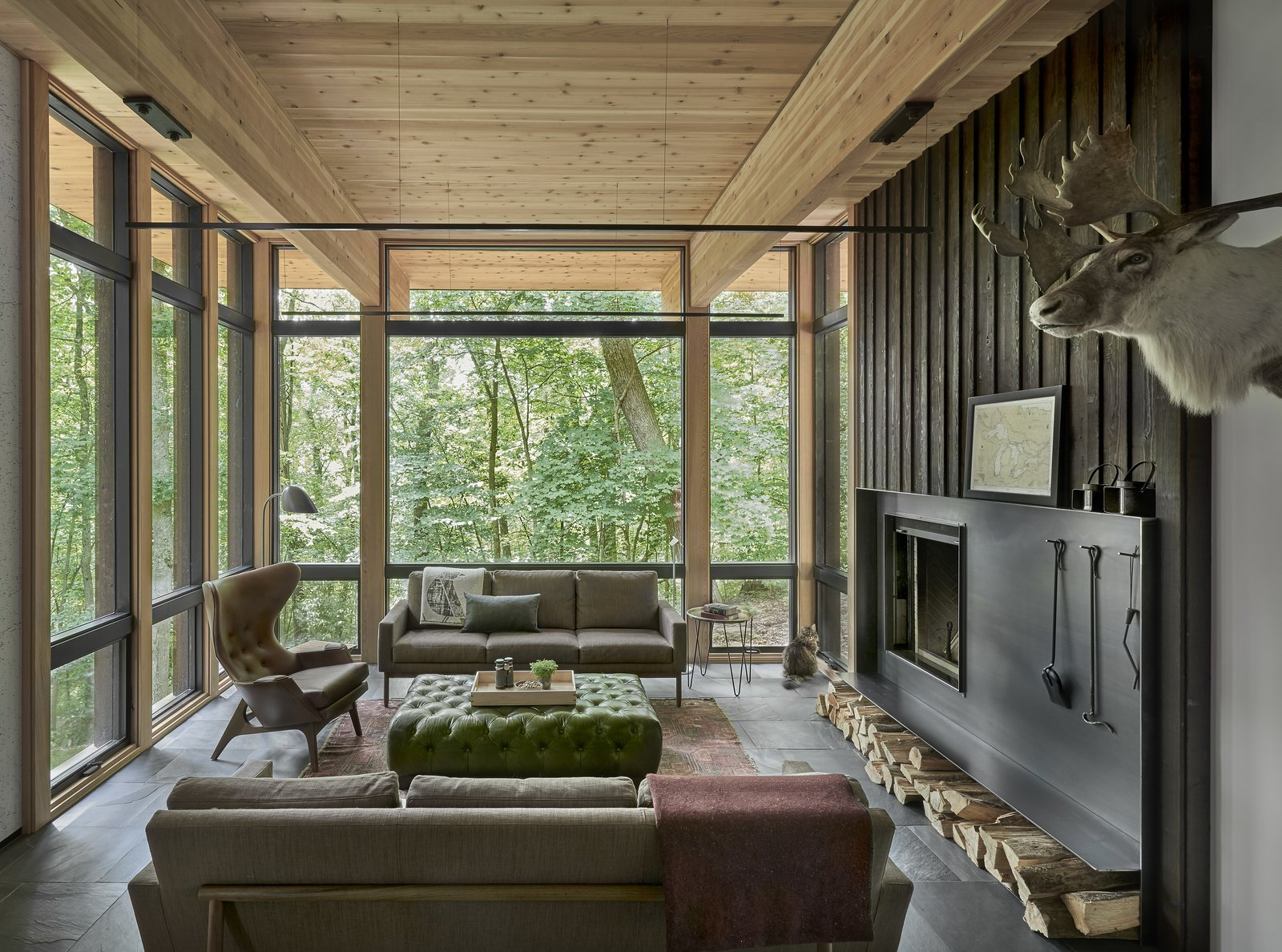 Lawless Cabin living room