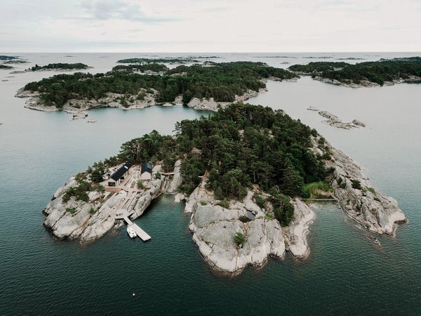 The designers' compound is located on a 5-acre island off the coast of Finland.