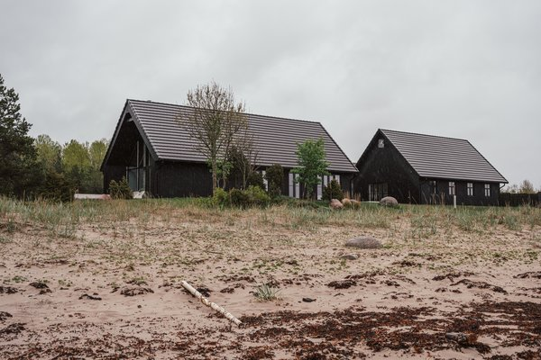 The beach house was constructed in the foot print of an old fisherman's village.