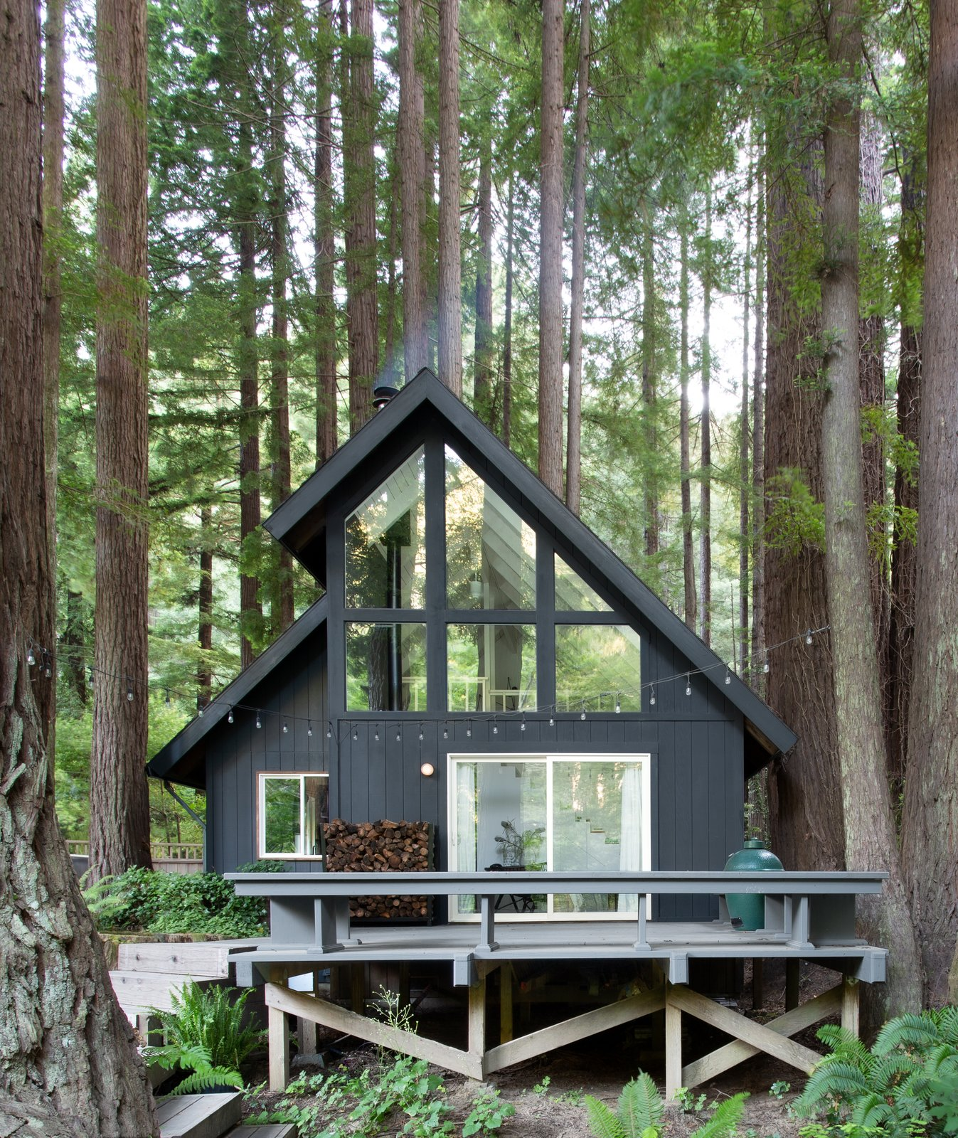 Photo 1 Of 16 In This Pristine A Frame Cabin Glows Like A Lantern In A Redwood Forest Dwell