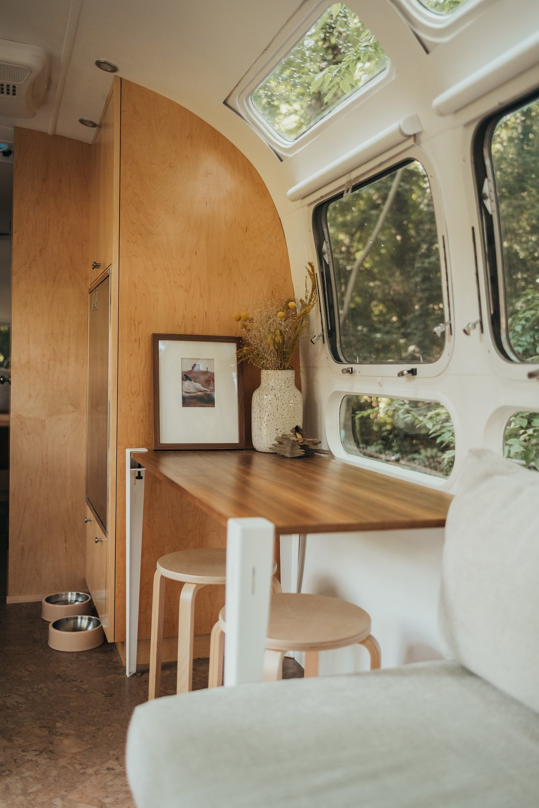 1973 Airstream Remodel dining area