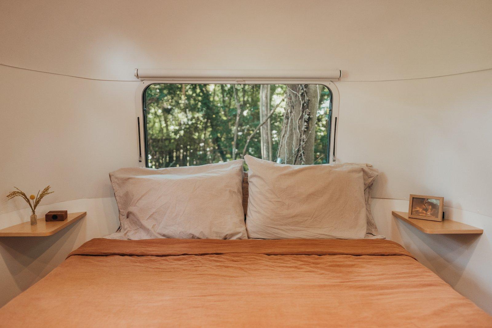1973 Airstream Remodel bedroom