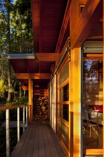 The timber structures are made from durable Douglas Fir posts and beams.