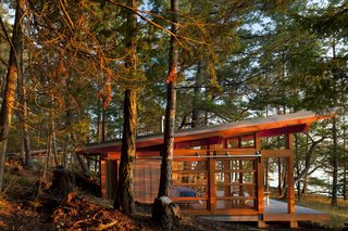 Windows wrap around the sides of the cabins to maximize views.