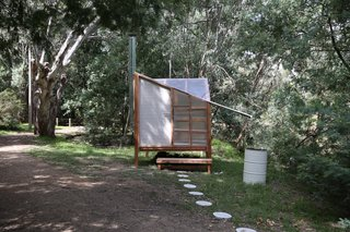 For Melbourne Design Week 2020, Sydney-based art and architecture collective Studio Rain created Atmosphere: A Revival, a sauna installation along the picturesque Yarra River meant to revive bathing culture.