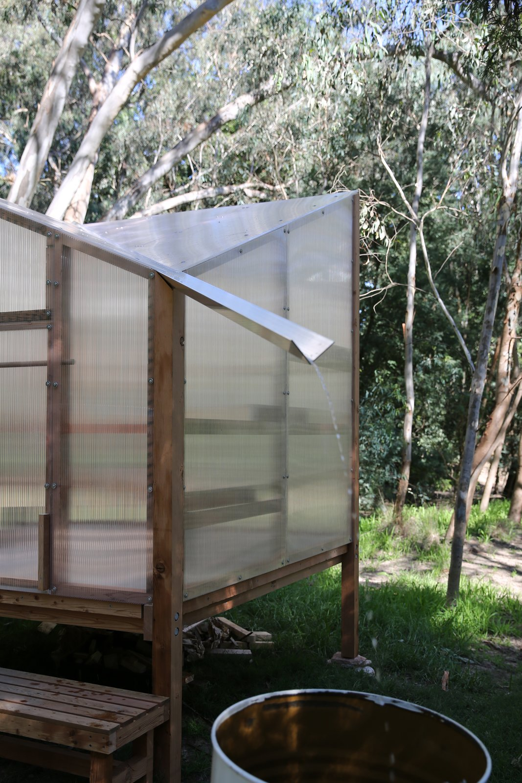 Off-Grid Sauna by Studio Rain rainwater bucket