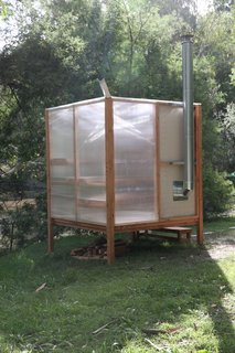 Designed as a flat-pack system, the sauna can be easily disassembled and transported.